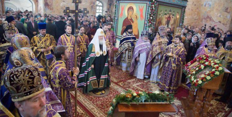 Литургия в Александро-Свирском монастыре