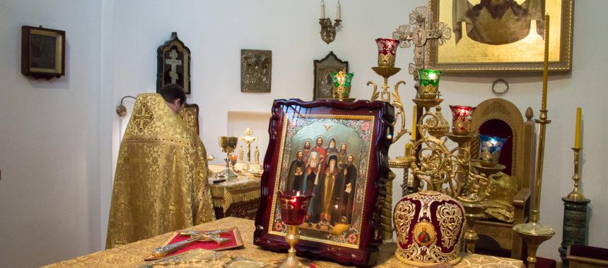 Икона с мощами Казахстанских святых